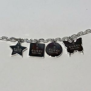 0a4a96f4e Gucci Jewelry   Nwt Sterling Silver Trademark Charm Bracelet   Poshmark